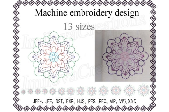 Mandala Design Mandala Embroidery Design By ImilovaCreations