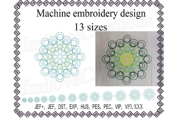 Mandala Mandala Embroidery Design By ImilovaCreations