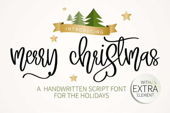 Print on Demand: Merry Christmas Manuscrita Fuente Por BitongType