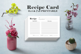 Print on Demand: Minimal Recipe Card Template V1 Graphic Print Templates By Creative Tacos