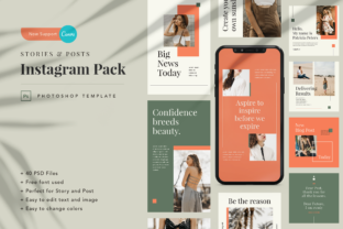 Print on Demand: Mutiara Instagram Canva Template Graphic Graphic Templates By peterdraw