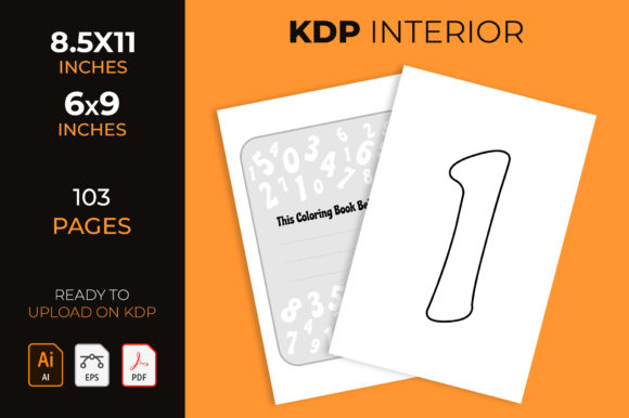 Numbers Coloring Book, Kdp Interior Graphic KDP Interiors By medelwardi