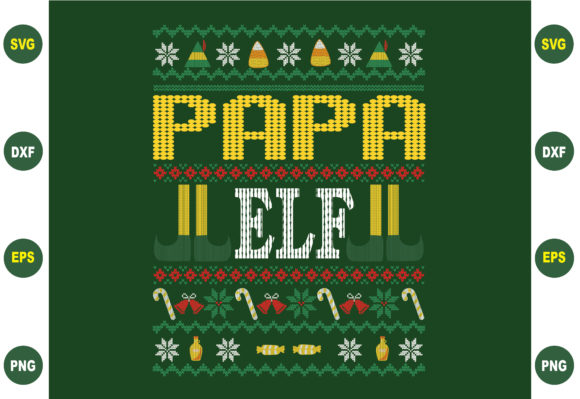 Papa Elf Christmas Gráfico Crafts Por BDB_Graphics