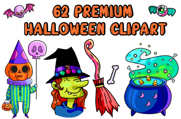 Print on Demand: Premium Halloween Cliparts - 62 Elements Graphic Illustrations By MikeToon Studio