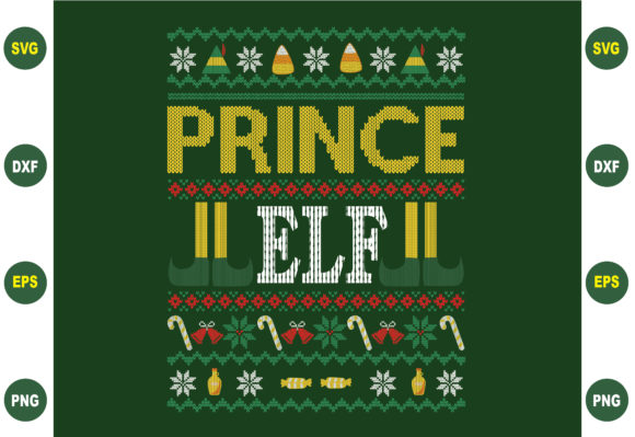 Print on Demand: Prince Ugly Christmas Sweater Graphic Crafts By BDB_Graphics