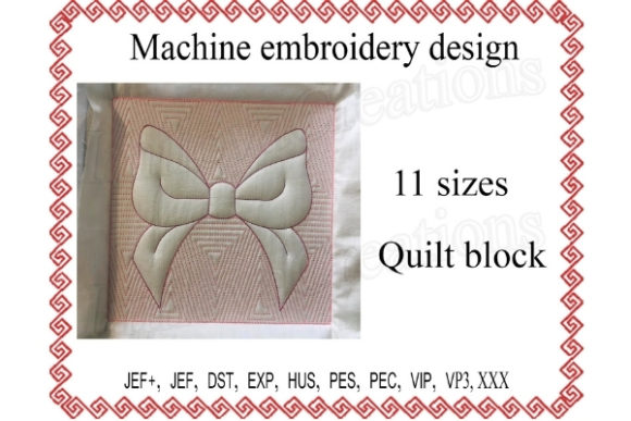 Quilt Block Ribbon Embroidery