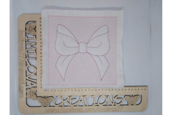 Quilt Block Ribbon Embroidery Item
