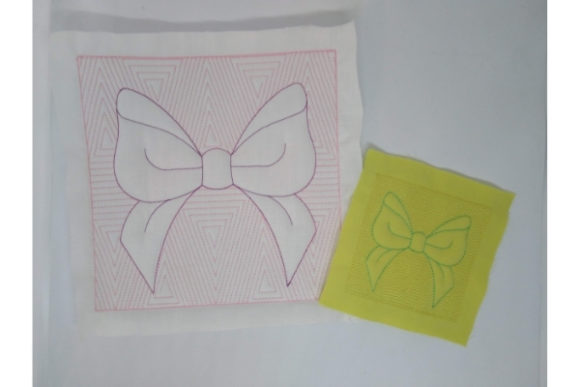 Quilt Block Ribbon Embroidery Design