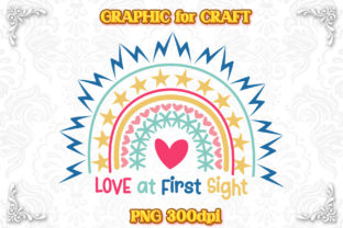Print on Demand: Rainbow Bohemian Love at First Sight PNG Graphic Crafts By numnim