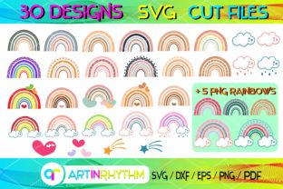 Rainbows, Colorful Rainbow SVG Bundle Graphic Crafts By artinrhythm