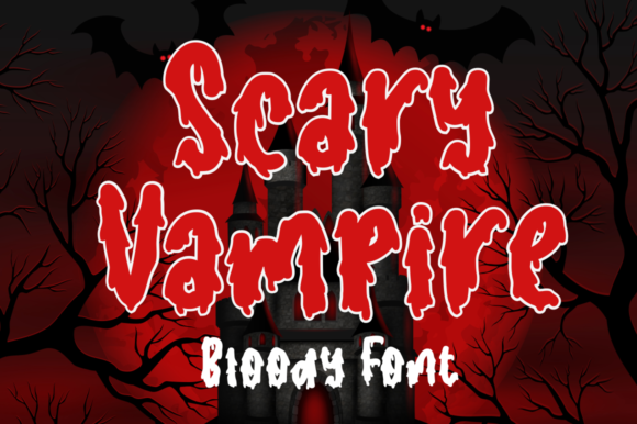 Print on Demand: Scary Vampire Display Font By Sronstudio