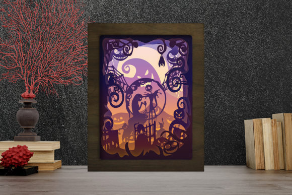 Simplified Nightmare Light Box Graphic 3D Shadow Box By LightBoxGoodMan