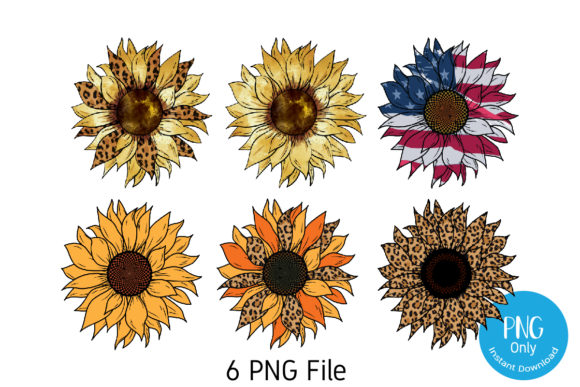 Print on Demand: Sunflower for Sublimation Set Graphic Crafts By Tori Designs