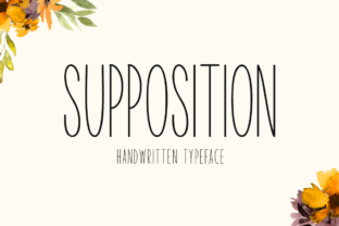 Print on Demand: Supposition Sans Serif Font By Seemly Fonts