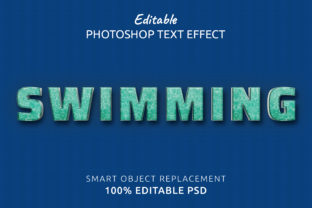 Print on Demand: Swimming Photoshop Editable Text Effect Graphic Layer Styles By IYIKON