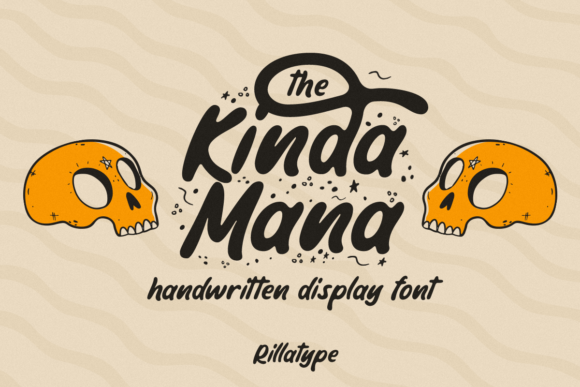 Print on Demand: The Kinda Mana Display Font By Rillatype