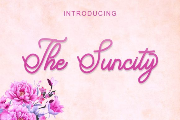 Print on Demand: The Suncity Script & Handwritten Font By Pidco.art