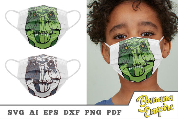 Print on Demand: T-rex, Tyrannosaurus-Rex Face Mask Graphic Crafts By Banana Empire
