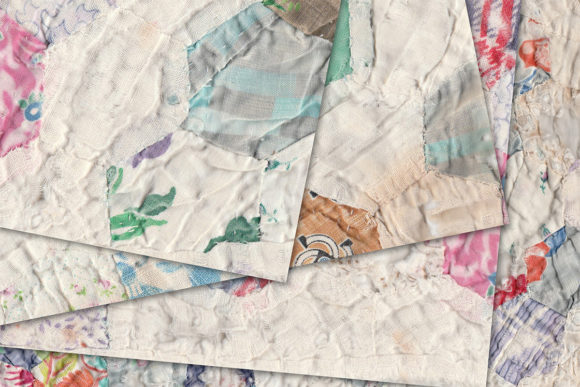 Print on Demand: Vintage Quilt Background Graphic Illustrations By LilBitDistressed