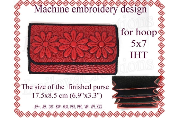 Wallet Accessories Embroidery Design By ImilovaCreations