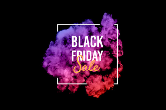 Colorful Smoke Black Friday Sale Vector. Graphic Backgrounds By Ju Design