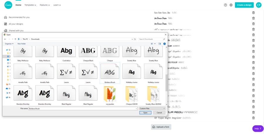 How to install and use fonts in Canva