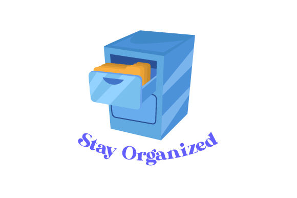 Stay Organized Designs & Drawings Craft Cut File By Creative Fabrica Crafts