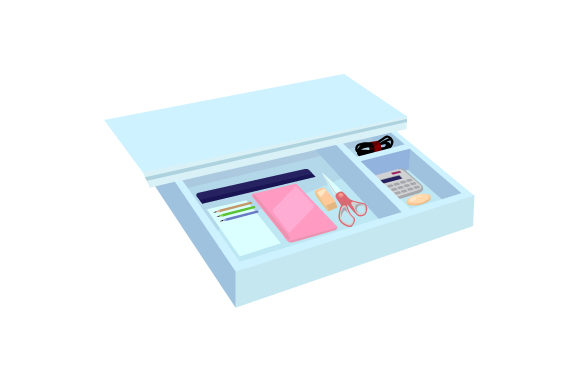 Organized Desk Drawer Designs & Drawings Craft Cut File By Creative Fabrica Crafts