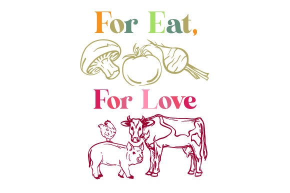 For Eat for Love Designs & Drawings Craft Cut File By Creative Fabrica Crafts