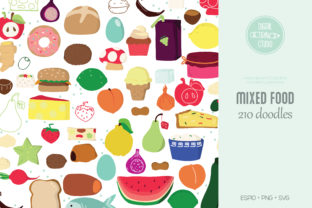 A to Z Food Color | Fruit Vegetable Graphic Illustrations By Digital_Draw_Studio