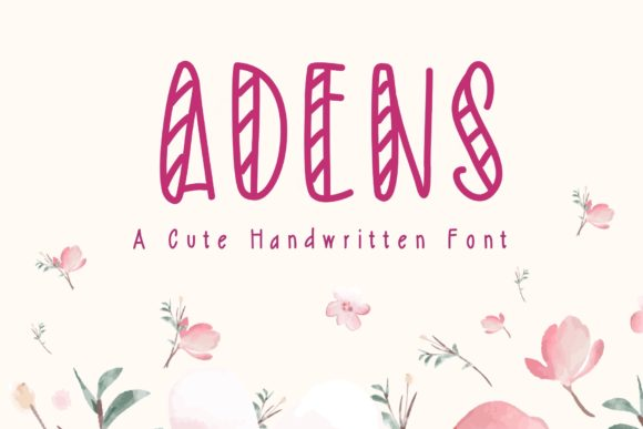 Print on Demand: Adens Display Font By KateType