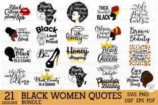 African American Black Woman Quotes Bundle Graphic Crafts By redearth and gumtrees
