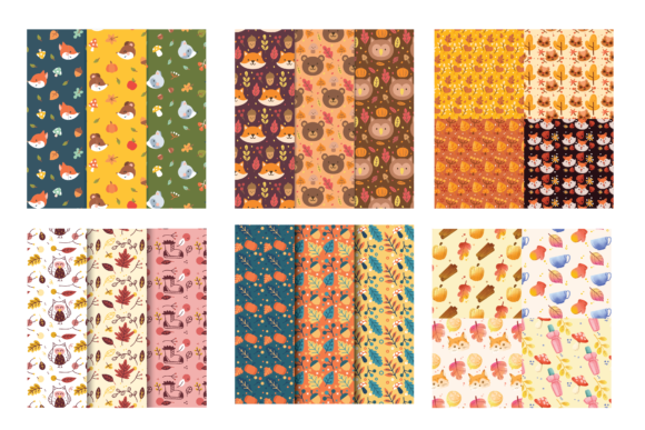 Print on Demand: Animal Seamless Pattern Background Graphic Backgrounds By BOdesign