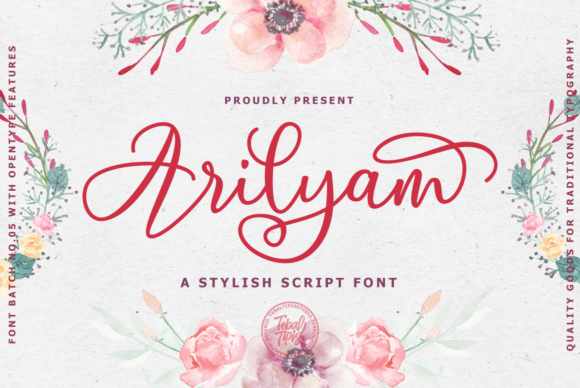 Print on Demand: Arilyam Script & Handwritten Font By tebaltipiss