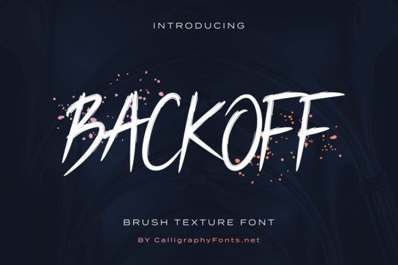 Print on Demand: Backoff Display Font By CalligraphyFonts