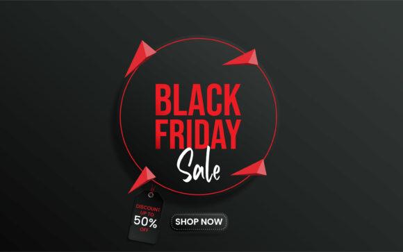 Print on Demand: Black Friday Sale Banner Template Design Graphic Graphic Templates By ngabeivector