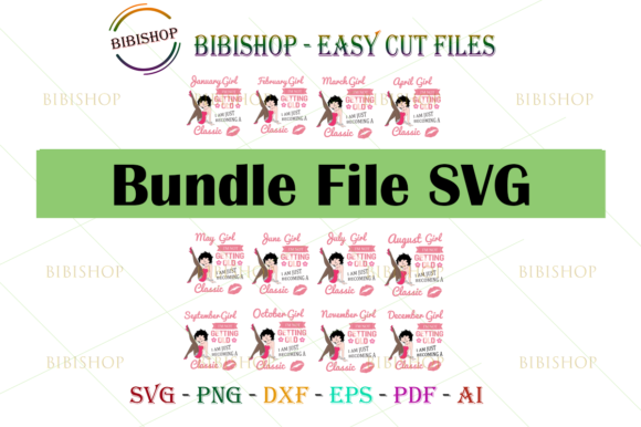 Bundle Girl I'm Not Getting Graphic Illustrations By BiBi Shop