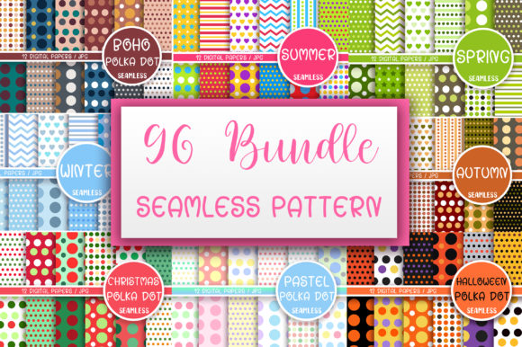Bundle Seamless Pattern Digital Papers Graphic Patterns By PinkPearly
