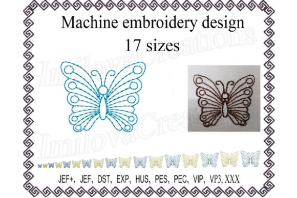 Butterfly Bugs & Insects Embroidery Design By ImilovaCreations