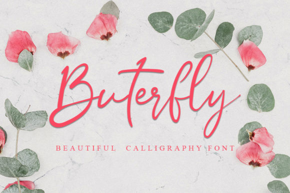 Print on Demand: Butterfly Script & Handwritten Font By Inermedia STUDIO