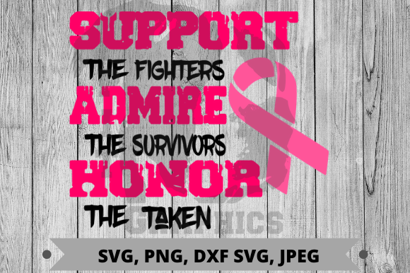 Cancer Awareness Graphic Crafts By Pit Graphics - Image 1