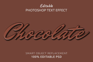 Print on Demand: Chocolate Photoshop Editable Text Effect Graphic Layer Styles By IYIKON