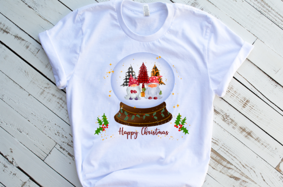Christmas Gnomes Sublimation Snow Globe Graphic Download