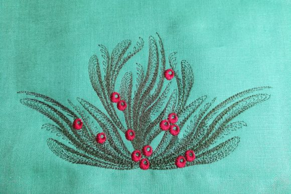 Christmas Spray Embroidery