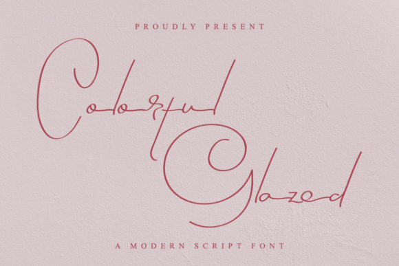 Print on Demand: Colorful Glazed Script & Handwritten Font By EdricStudio