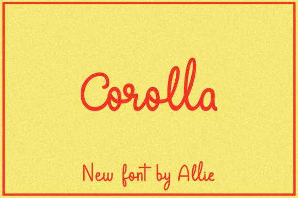 Print on Demand: Corolla Script & Handwritten Font By maplesyruptype