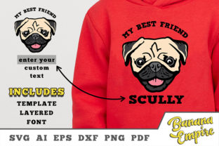 Print on Demand: Cute Dog, Pugs Funny, My Best Friend Graphic Crafts By Banana Empire