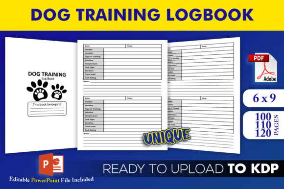 Print on Demand: Dog Training Logbook KDP Interior Graphic KDP Interiors By Beast Designer