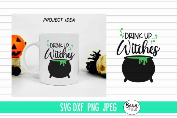 Print on Demand: Drink Up Witches Halloween Svg Graphic Crafts By Bean and  Bird