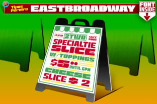 Print on Demand: East Broadway Display Font By Tipos Pereira